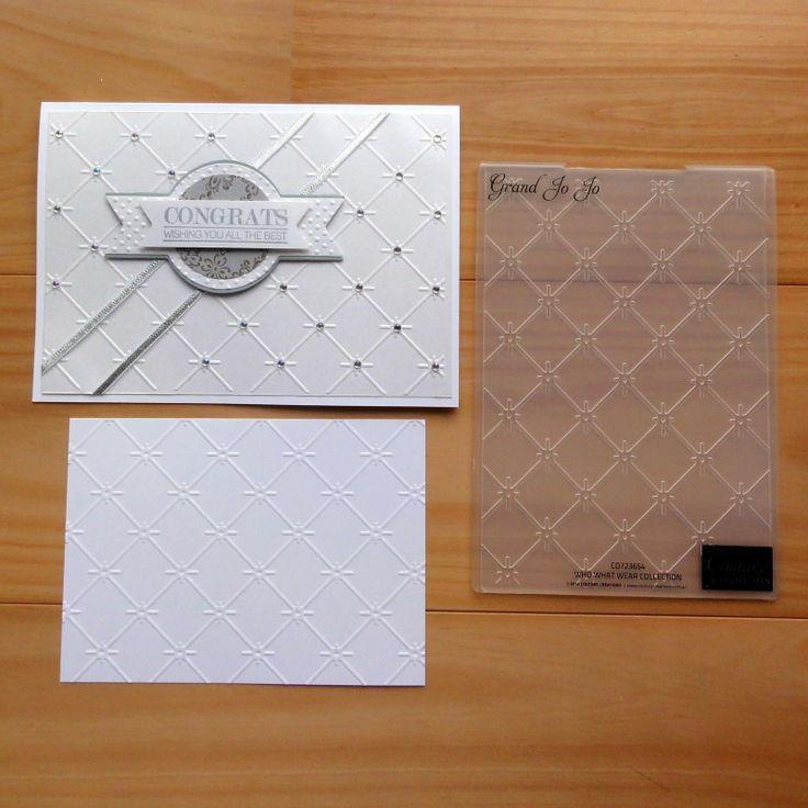 Couture Creations Embossing Folder Grand JO JO Lattice