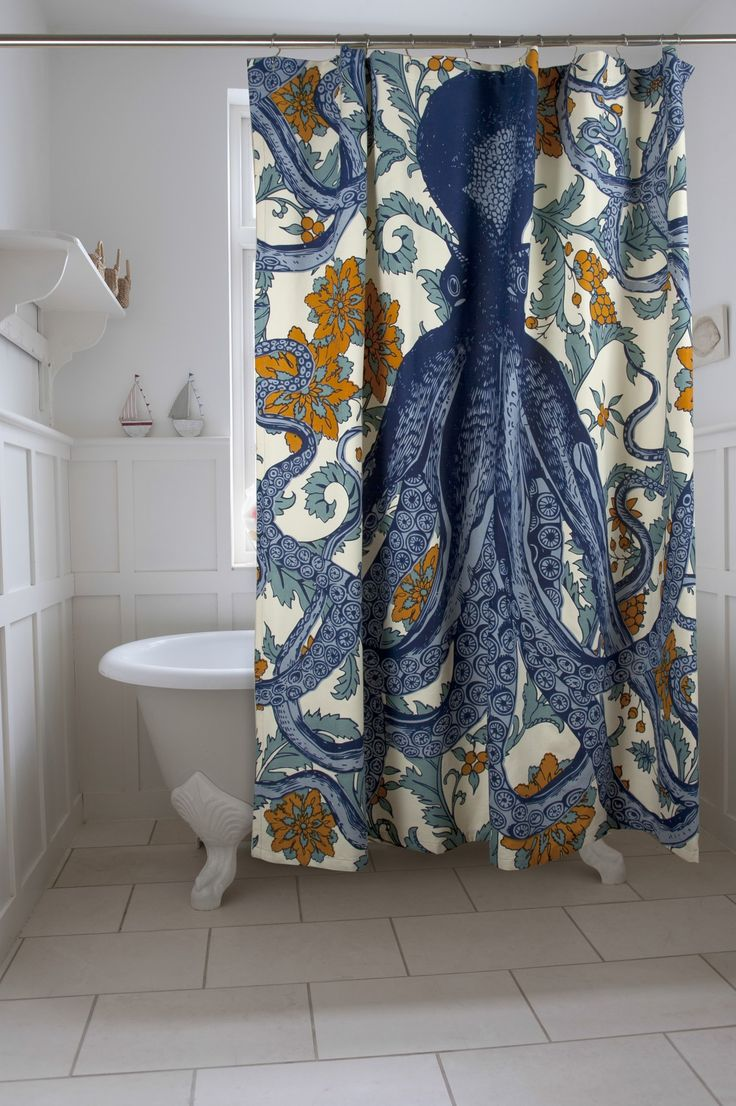 Vineyard Octopus Shower Curtain  Vineyard I am and Love this