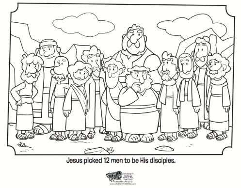 Kids coloring page from What's in the Bible? featuring the