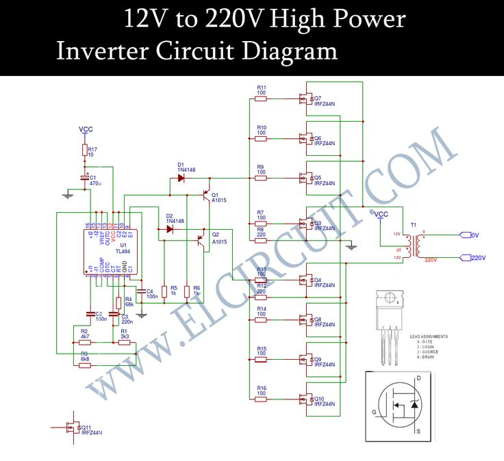 Circuit Diagram Of An Inverter