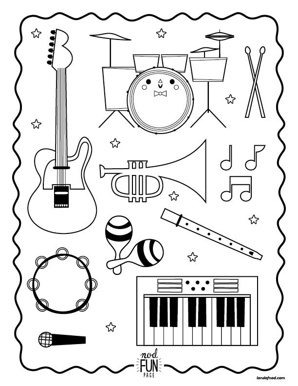 Orchestra Instruments Printable Worksheets Sketch Coloring