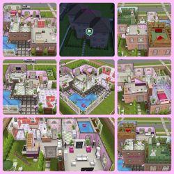 sims layout pool freeplay layouts plans play houses zigzag corner shape blueprints apartment visit