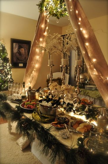 Tablescape Ideas Thanksgiving Christmas Holiday Meals Home Decor Buffet Serve Yourself