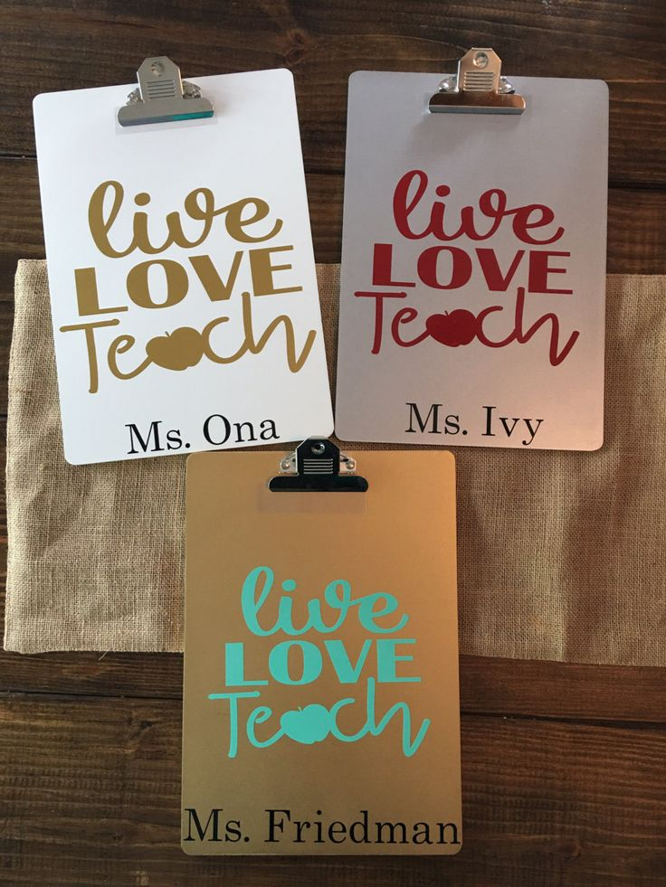 monogrammed clipboards for teachers