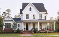 white house black window trim   white, white trim, black ...
