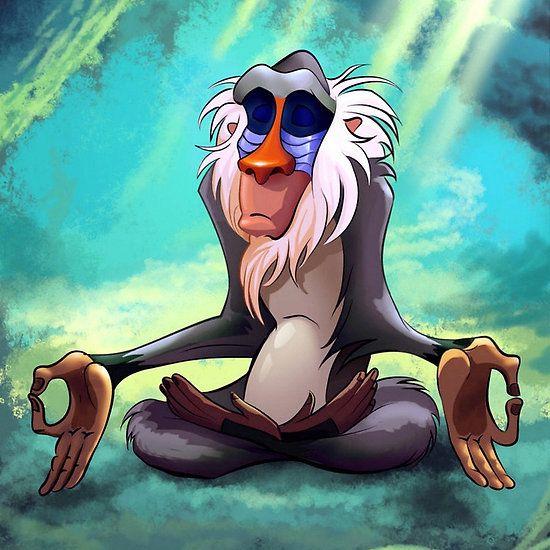 Rafiki Meditating Fandom Wants Pinterest Its You