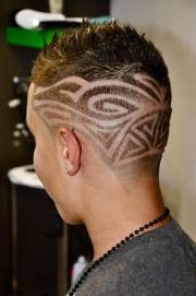 awesome tribal hair tattoo design
