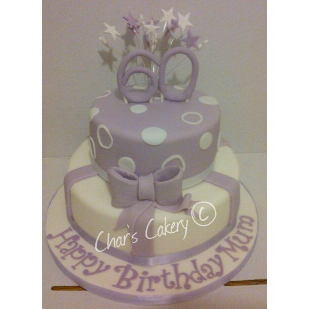 Two Tiered 60th Birthday Cake Wedding Tiered Cakes