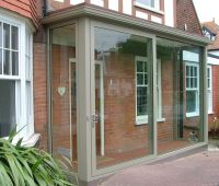 Huge Aluminium Sliding Porch Doors. | Entrance Porches ...