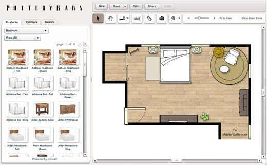house design tool favorites  pottery barn room planner