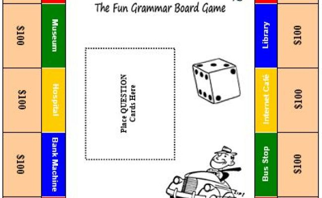 Grammar City Board Choose The Grammar You Want To Practice