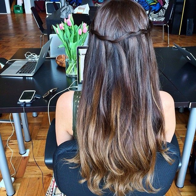 Twisted Waterfall With Luxy Ombre Chestnut Brown Hair