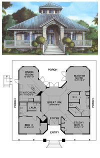 Florida Cracker Style COOL House Plan ID: chp-24538 ...