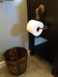 Details to a pirate themed bathroom. Found toilet paper ...