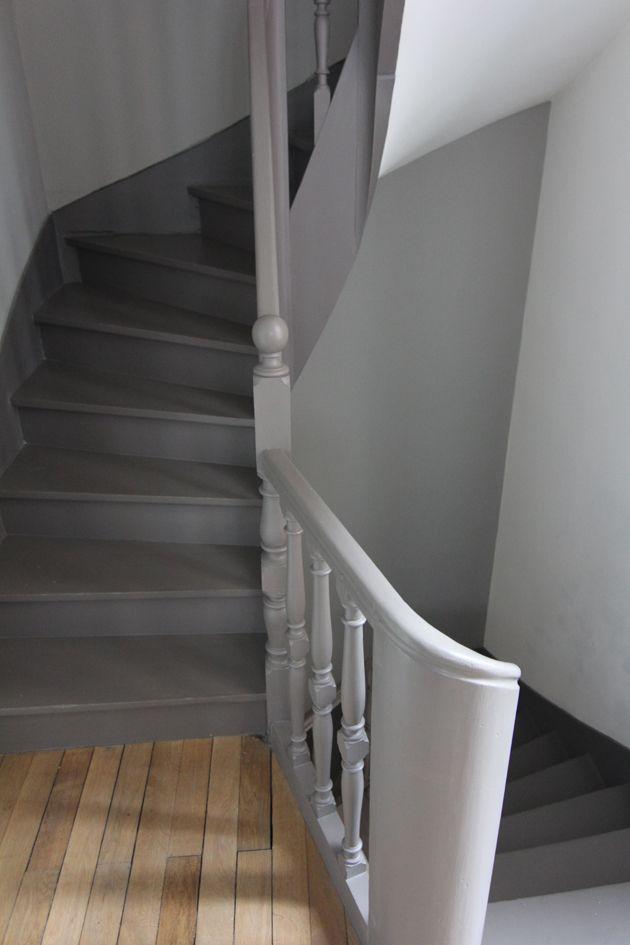 Escalier peint  maison  Pinterest