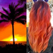 sunset red hair color