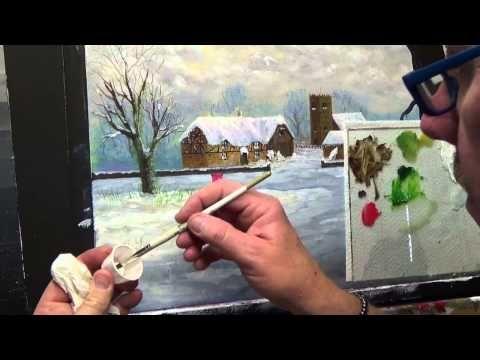 Beginners Acrylic Painting Tutorial Christmas Scene Part 9