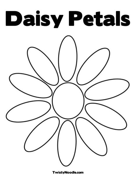 Free six flower petals coloring pages