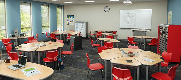 Classroom furniture is a physical point of contact between