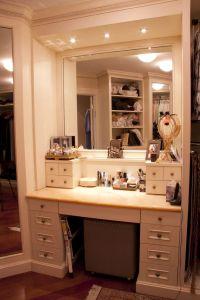 Master Walk-In Closet ~ Make-Up Table | Dorm room ...