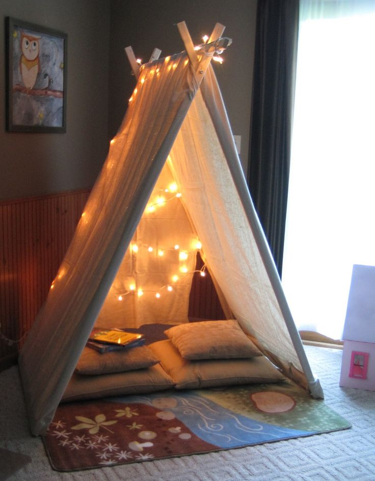 DIY–instructions for a Canvas Reading Tent–what kid wouldnt love