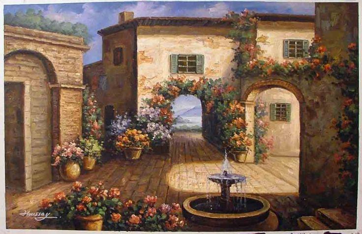 tuscan kitchen ideas white island with seating courtyards   courtyard art pinterest ...