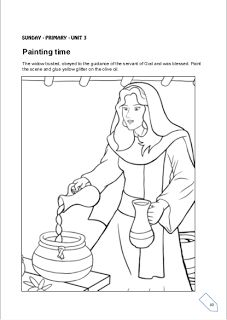 Elijah Widow Oil Coloring Coloring Pages