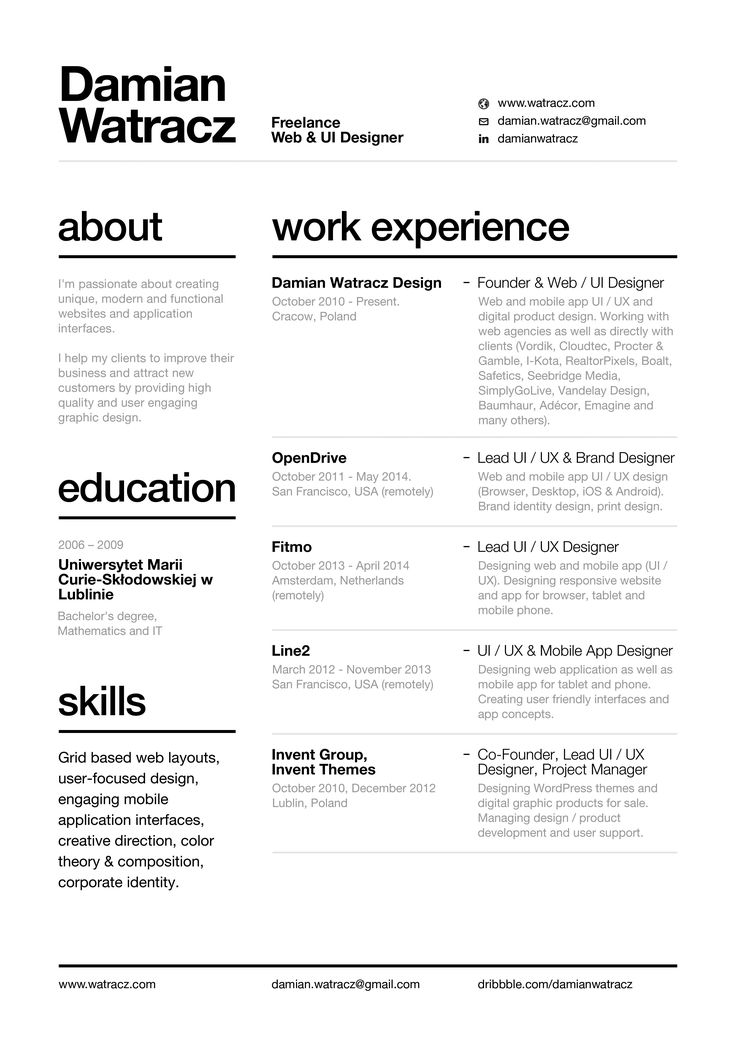 25 Best Ideas About Cool Resumes On Pinterest Cv Ideas