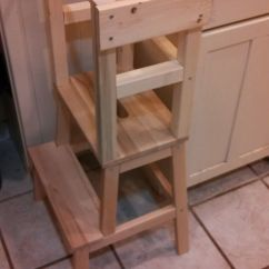 Ikea Kitchen Step Stool Temporary Blame Crayons...: Diy Learning Tower With Materials List ...