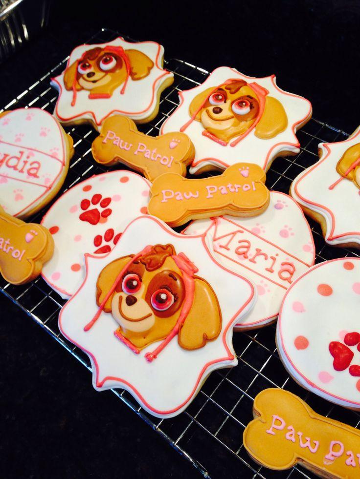 Paw Patrol cookies  Miss Nikkis Cookies  Pinterest  Cookie designs Paw patrol and Design