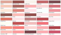 pink rose color chart | Pratt & Lambert Color Collection ...