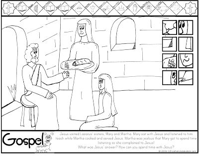 Die 17 besten Bilder zu Mary and Martha Coloring Pages auf