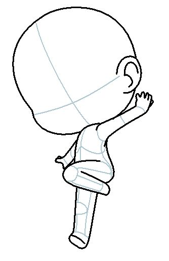 Chibi Outline Drawing Chibi Boceto Draw Chibi Dibujo