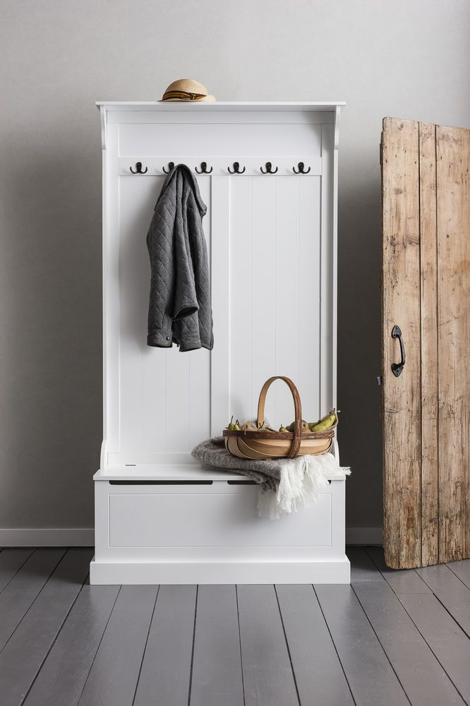 Details About Hallway Bench And Coat Hook Shoe Storage In