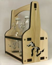 Beer Growler | Growler Holder | Beer Caddy | Wooden Beer ...