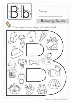 Phonics Letter of the Week B {FREE} get one for each