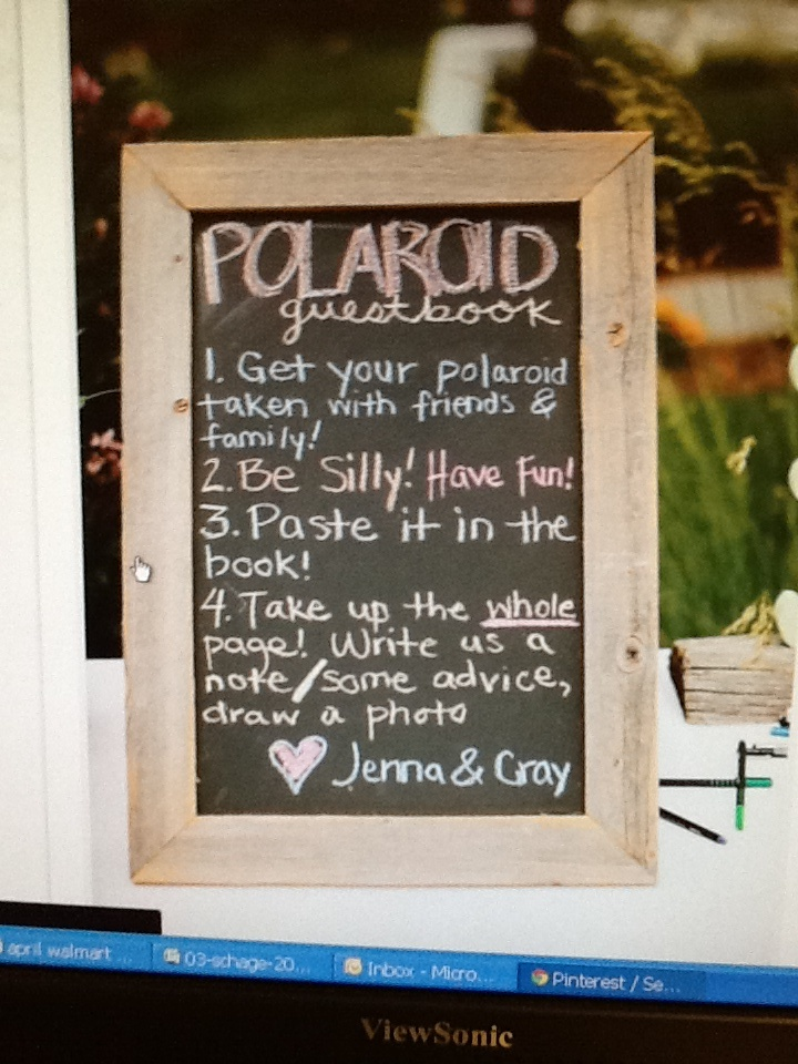 Polaroid guest book instructions See my work at http