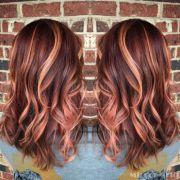 rose gold hair sherbet colored