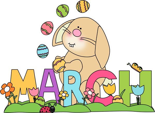 month of march easter bunny preschool