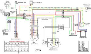 72 wiring diagram   Honda CT70   Pinterest