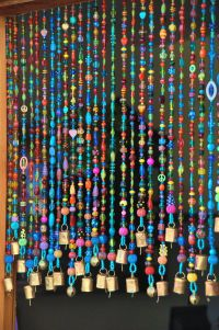 Bead Door & 5257 - Bamboo Beaded Door Curtain- Double Parrot