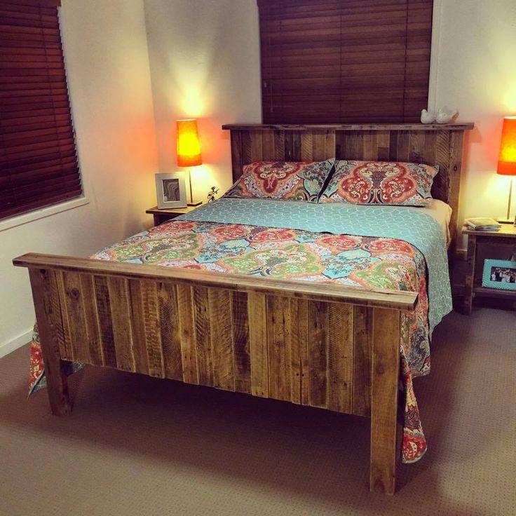 17 best ideas about Wooden Pallet Beds on Pinterest