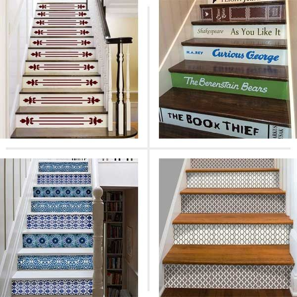 Dress Up Stair Risers With Vinyl Decals Vinyls Dress Up