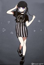 anime. anime girl. purple eyes
