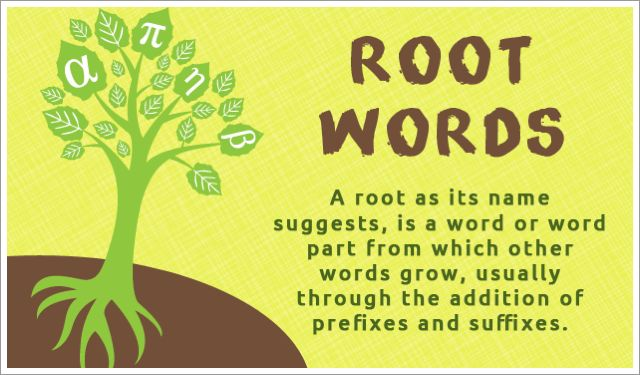 root words  How to Articles  Pinterest  Root words and Word building