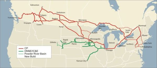CP Rail System Map CP Rail Pinterest Maps