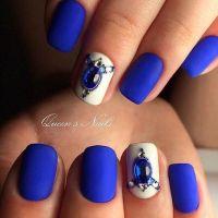 Best 25+ Blue matte nails ideas on Pinterest
