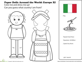 10 Best images about Paper Dolls from Around the World on