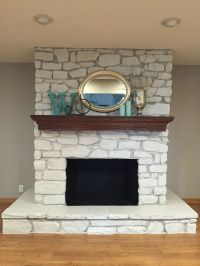 25+ best ideas about Painted stone fireplace on Pinterest ...