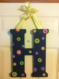 Wooden letter decor | My creations | Pinterest | Wooden ...